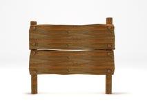 Vieux poteau indicateur en bois de planche Images libres de droits