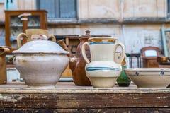 Vieux pots en céramique Images libres de droits