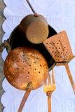 Vieux pots et casseroles Photos libres de droits