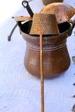 Vieux pots et casseroles Photos stock