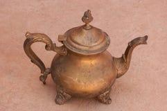 Vieux pots marocains de thé Photographie stock