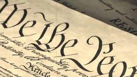 Vieux préambule de film à la constitution les Etats-Unis d'Amérique banque de vidéos