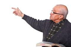 Vieux professeur Images stock