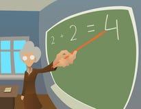 Vieux professeur illustration libre de droits