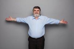 Vieux professeur avec les cheveux gris Photos libres de droits