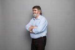 Vieux professeur avec les cheveux gris Photo libre de droits