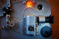 Vieux projecteur de film de vintage Photographie stock