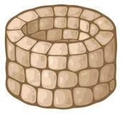 Vieux puits d'aspiration en pierre Photo stock
