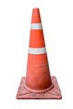 Vieux pylône de cône de route du trafic ; Cône du trafic de borne de route image libre de droits