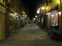 Vieux-Québec Rue du Petit Champlain arkivfoto