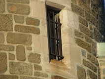 Vieux-Québec,medieval gated window. Medieval gated window in old quebec city Royalty Free Stock Image