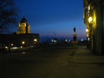 Vieux-Québec at night. Near the parliament Royalty Free Stock Photos
