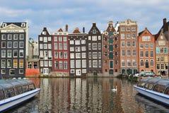 Vieux quart d'Amsterdam Images libres de droits