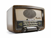 Vieux récepteur radioélectrique 3d illustration stock