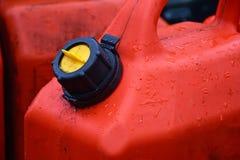 Vieux récipient rouge de gaz Photos libres de droits