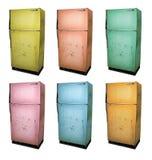 Vieux réfrigérateur photos libres de droits