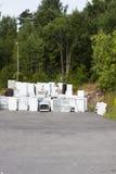 Vieux réfrigérateurs d'ordure Images stock