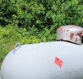 Vieux réservoir de propane Images stock
