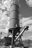 Vieux réservoir de sable d'usine Photo libre de droits
