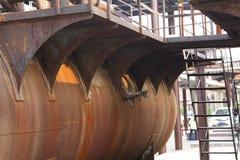 Vieux réservoir rouillé Photographie stock libre de droits