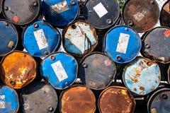 Vieux réservoirs de carburant Photo libre de droits