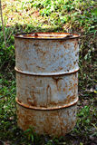 Vieux réservoirs de carburant Photos libres de droits