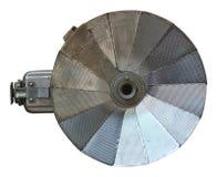Vieux rétro éclair d'appareil-photo sur le fond blanc Image stock