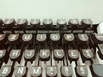 Vieux rétro clavier de machine à écrire Photos libres de droits