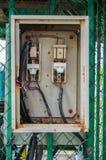 Vieux rétro commutateur électrique dangereux Photo libre de droits