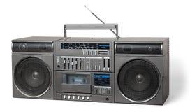 Vieux rétro magnétophone à cassettes de sableuse photo stock