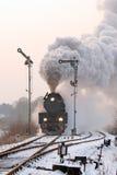 Vieux rétro train de vapeur image stock