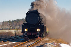 Vieux rétro train de vapeur image libre de droits