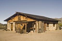 vieux ranch de construction occidental Photographie stock