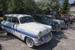 Vieux rassemblement de voitures de minuterie photographie stock libre de droits
