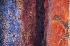 Vieux, rayé, antique bleu, texture en métal photos libres de droits