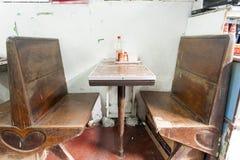Vieux restaurant de thé de Hong Kong Photographie stock