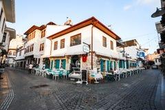 Vieux restaurant de ville d'Antalya Images stock