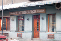 Vieux restaurant italien Photographie stock