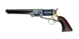 Vieux revolver de colt en métal Photographie stock libre de droits