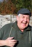 Vieux rire d'homme. Images stock