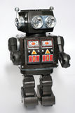 Vieux robot #5 de bidon de jouet Photo stock