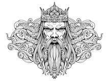 vieux roi des mers illustration stock