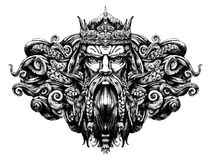 vieux roi des mers illustration libre de droits