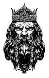 Vieux roi dur illustration stock
