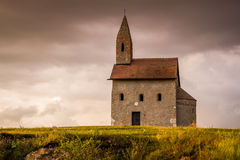 Vieux Roman Church dans Drazovce, Slovaquie Photos stock