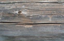 Vieux rondin en bois scié gris, fond Photo stock