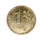 Vieux rouble russe Image stock