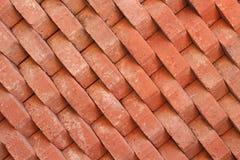 Vieux rouge de brique de fond Photos libres de droits