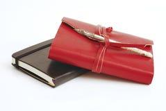 Vieux rouge de livre d'agenda Photo libre de droits