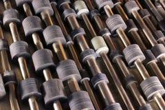 Vieux rouleaux en caoutchouc des imprimantes à laser et des copieurs image stock